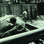 Mutua collects rhino ticks ca. 1971