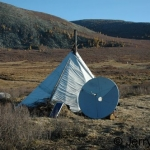 Ortz with solar panel & TV dish