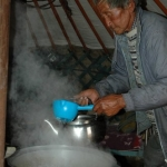 Suren making tea