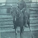 Girl riding a moose