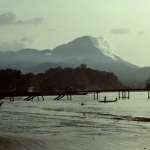 Mt Cameroon from Limbe shore