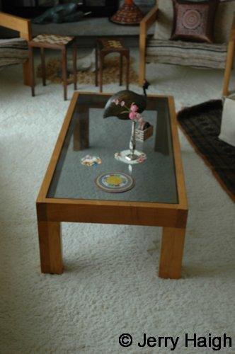 coffee table, African muhuru (a.k.a. Meru oak)