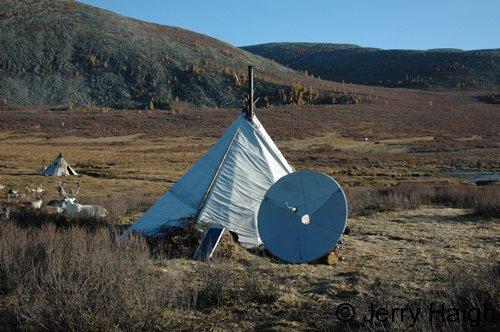Ortz with solar panel & TV dish