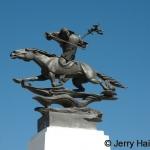 Tradtional Mongolian warrior statue