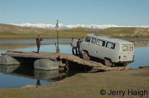 Van at ferry crossing