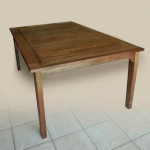 "Walnut dining table 6 feet by 43"" (182 x109cm)"