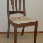 walnut dining room or office chair