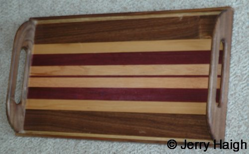 mixed wood laminted tray